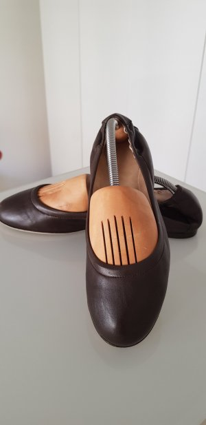 Bally Foldable Ballet Flats dark brown