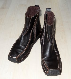 Dunkelbraune Booties aus Leder