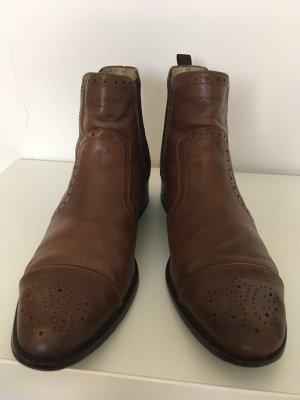 Dunkelbraune Chelsea-Boots