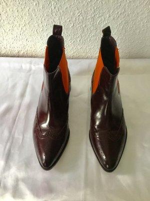 Chelsea laarzen donkerbruin-oranje