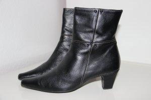 dunkelbraune Echtleder-Stiefelette, Größe 37