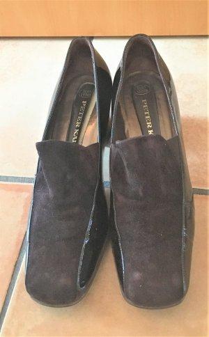 Peter Kaiser Chaussure à talons carrés brun cuir