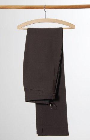 Hallhuber Pantalón tipo suéter marrón oscuro