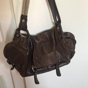 Dunkelbraune Handtasche