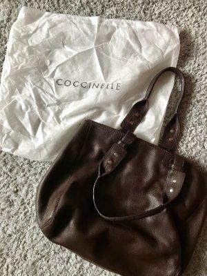 Dunkelbraune Handtasche von Coccinelle