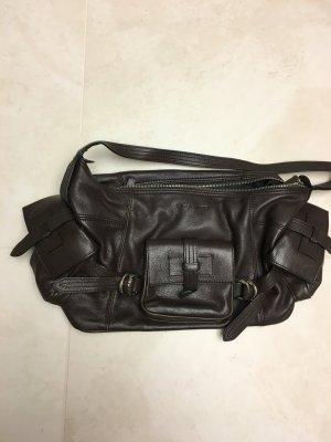 Dunkelbraune Handtasche von René Lazard