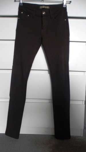 Pantalón de tubo marrón oscuro tejido mezclado