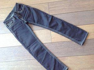 Dunkelbraune Jeans, Gr.36/38, straight