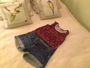 Dunkelbraune Jeans Shorts