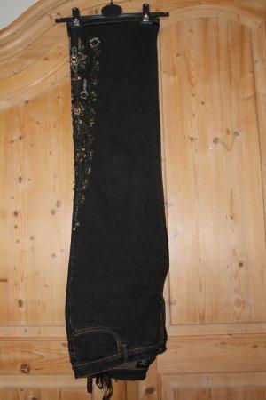 Dunkelbraune Jeans von Madeleine mit vielen Schmucksteinen, Größe 22, neuwertig!