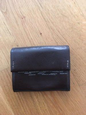 Dunkelbraune kleine Leder Geldbörse von mandarina duck, neuwertig