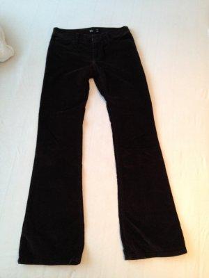 Mango Corduroy Trousers black brown