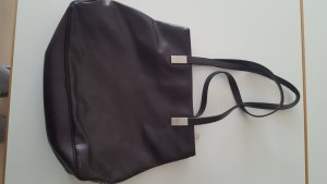 Esprit Carry Bag black brown imitation leather