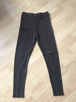 Dunkelbraune Leggings (Stil: Reiterleggings)