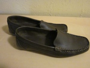 Blue Motion Moccasins dark brown leather