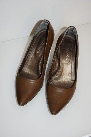 Dunkelbraune Pumps von Tango, Größe 39 aus echtem Leder