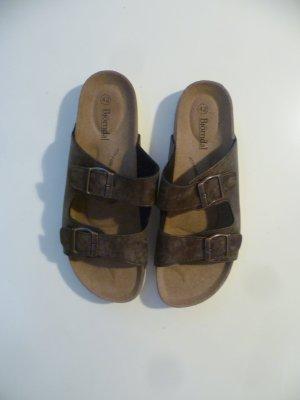 Sandalo comodo marrone-marrone scuro