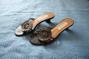 dunkelbraune Sandalen von Janet D