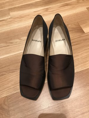 Dunkelbraune Schuhe von Audley, neu, Größe 38,5