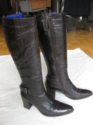 Lamica Botas estilo militar marrón-negro-marrón oscuro Cuero