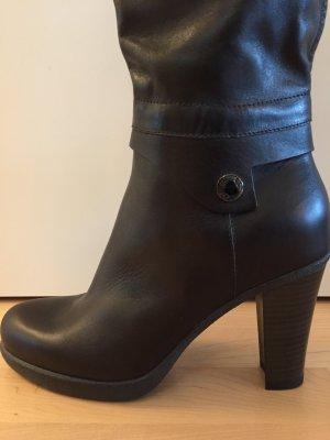 Samsonite Heel Boots dark brown leather