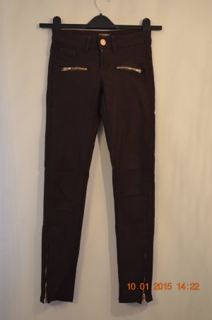 dunkelbraune Stretch-Hose