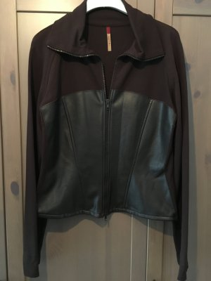 Alysi Faux Leather Jacket brown imitation leather