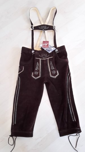 Leather Trousers dark brown