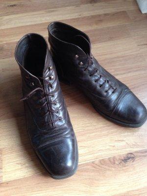 Dunkelbraune Vintage Schuhe