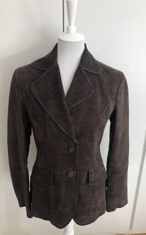 Gant Leather Jacket dark brown suede