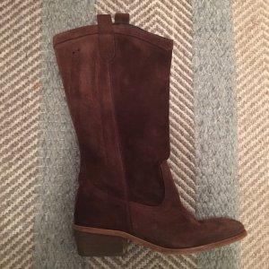 Botas estilo vaquero marrón-marrón oscuro