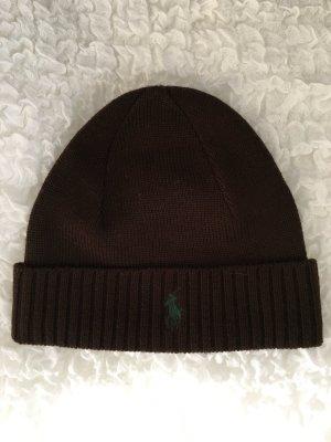 Polo Ralph Lauren Chapeau en tricot brun foncé laine