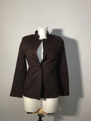 Zara Chaqueta militar marrón oscuro-marrón-negro