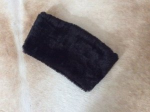 Tube Scarf black brown fake fur