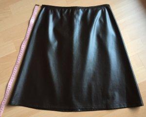 Barisal Jupe en cuir brun foncé-brun noir
