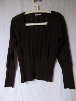 Orsay Pull en crochet brun foncé