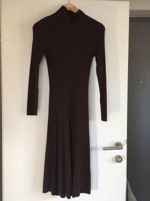 Vestido tejido marrón oscuro