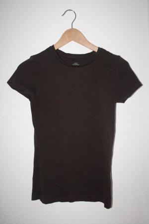 dunkelbraunes Basic Shirt von H&M
