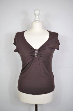 Heine Blusa color plata-marrón