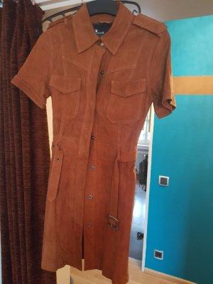 Goosecraft Leather Dress brown