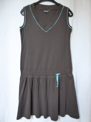 Blue Motion Sweat Dress turquoise-light blue cotton