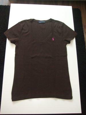dunkelbraunes T-Shirt von Ralph Lauren