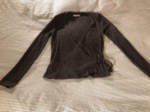 Madewell Camisa cruzada marrón-negro