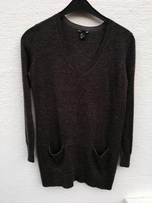 H&M Woolen Dress dark brown-black brown