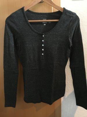 dunkelgrau meliertes basic Shirt, H&M