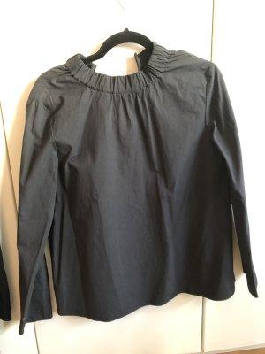 Dunkelgrau/schwarze Bluse von COS