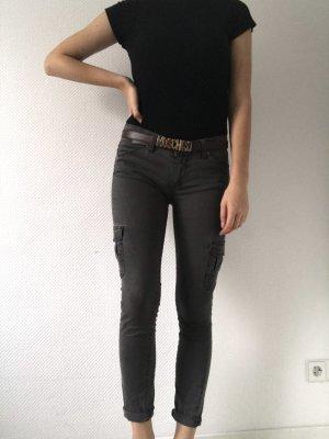 Dunkelgraue, braun, schwarze enge Jeans von Paige