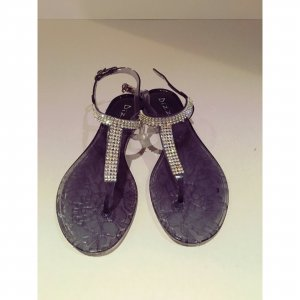 High-Heeled Sandals dark grey-silver-colored