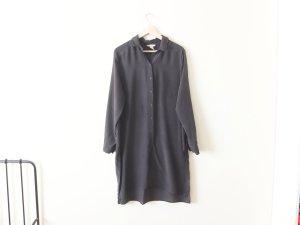 dunkelgraue H&M Seidentunika Gr. 42 40 Seide Tunika Kleid Blusenkleid