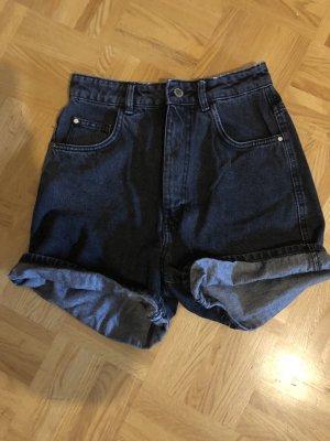 Zara Denim Shorts black-grey